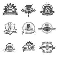emblema de auto servicio