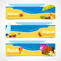 Banner set van zomer strand
