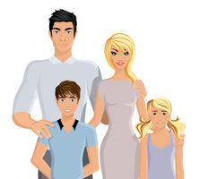Happy family realistic