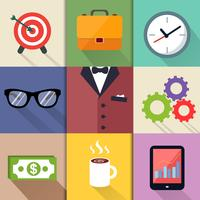 costumes d'affaires set d'icônes