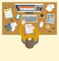 Accounter management workplace vector