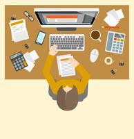 Local de trabalho de gestão Accounter