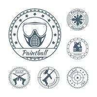 Set di simboli Paintball