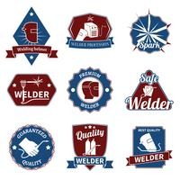 Welder labels set