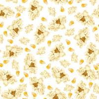Patrón sin costuras de palomitas de maíz