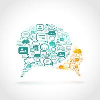 Concepto de comunicación chat