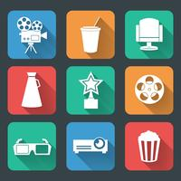 Cinema entertainment pictograms collection