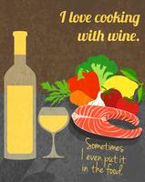 Wine cooking poster