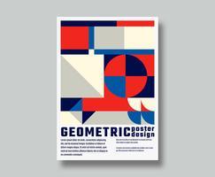 Design geométrico de pôster