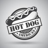 Hot dog emblem vector