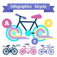 Elementi infographic di biciclette