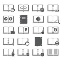 Books and Symbols Icons Set vector