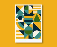 Diseño de cartel geométrico