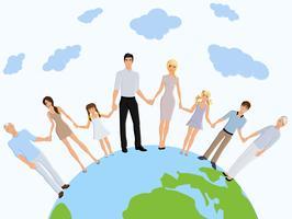 Happy family earth