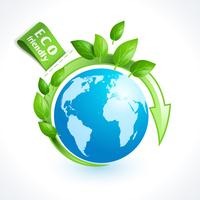 Globo de símbolo de ecologia vetor