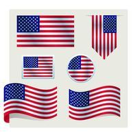 conjunto de bandeira americana