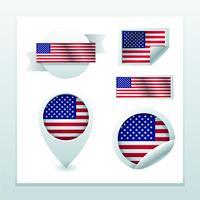 conjunto de la bandera americana