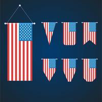 amerikanische Flagge gesetzt