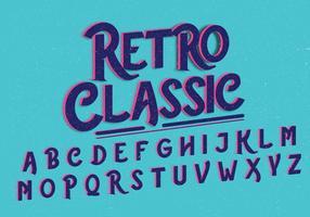 retro klassisk alfabet vektor