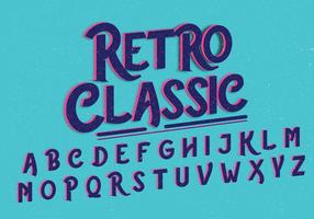 Vecteur d'alphabet classique rétro