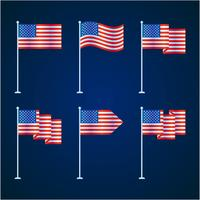 amerikanische Flagge gesetzt vektor