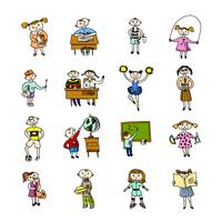 Set di bambini doodle
