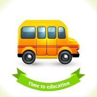 Icono de educación del autobús escolar