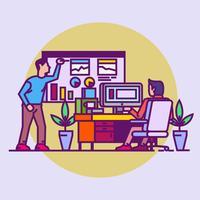 Office Meeting vector