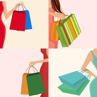 Shopping bag a mano della ragazza