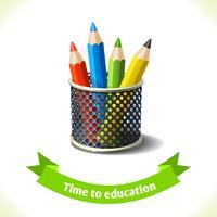 Utbildning ikon färgpennor