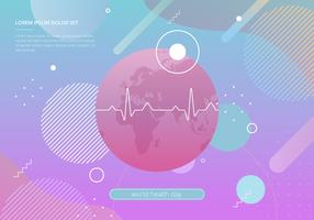 World Health Day in Geometric Shapes Illustration vector