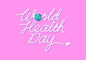Hand Lettering World Health Day Vector