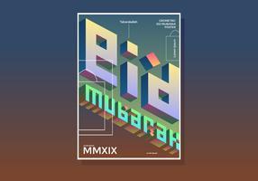 Eid Mubarak geometrische poster vector