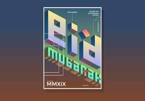 Eid Mubarak Geometric Poster vector