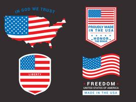 fantastiska american flag set vektor