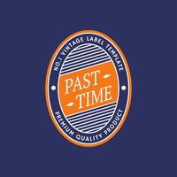 Retro Label Oval Template
