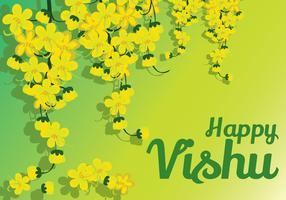 Glückliche Vishu-Vektor-Illustration