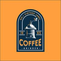 Coffee Retro Label Template