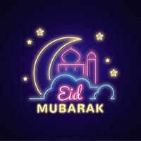 Ilustração vetorial de Eid Mubarak