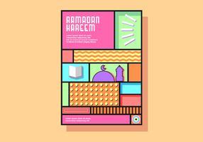Ramadan Kareem Geometric Poster