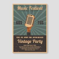 Retro Poster Template vector