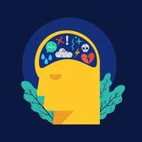 Geistige Gesundheit-Vektor-Illustration