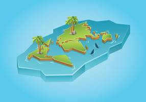 3D International Islands Map