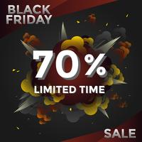 Explosão Black Friday Limited Tempo Mídia Post Vector