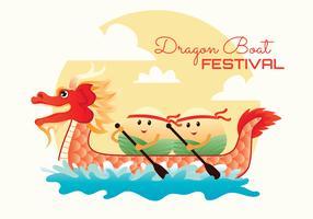 vector de festival de barco de dragón