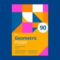 Geometrische gele afficheontwerpmalplaatje