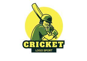 Illustrazione di vettore di logo del cricket