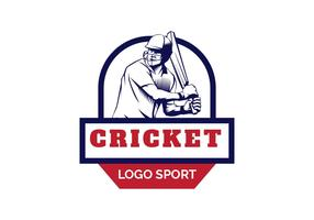 Illustration vectorielle de cricket logo
