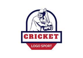 Cricket Logo Vector Illustration