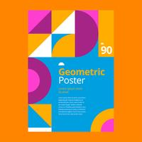 Geometric Poster Design  vector